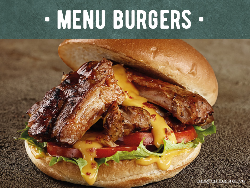 MENU BURGERS. RIBS True American Barbecue
