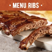 MENU RIBS. RIBS True American Barbecue